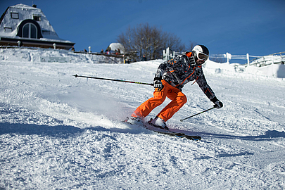 Skifahrerin